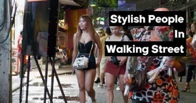 (4K-Fixed) Stylish People in Walking Street, Pattaya 2019 July