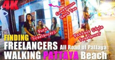 Finding Freelancer and ladyboy Walking All around Pattaya Beach Road 2019 films 12
