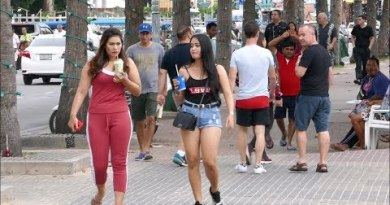 Pattaya Beach Road – Day Scenes and destroyed Beach Sections