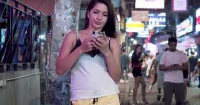 4K Ultra HD. Pattaya Walking Road Rapid scenes