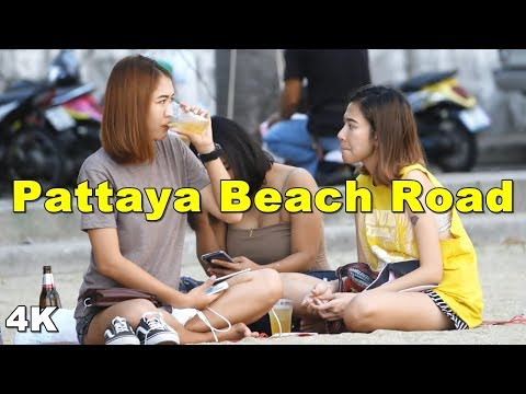 (4K) Pattaya Beach Twin carriageway -Day Scenes(Vlog #071)