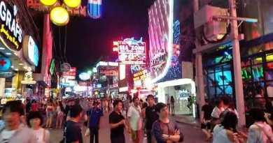Glittering streets of Pattaya Thailand