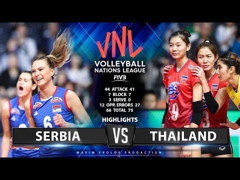 Serbia vs Thailand | Highlights | Ladies's VNL 2019