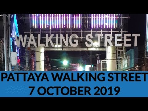 Pattaya walking aspect freeway evening 7 October 2019| stupid evening pattaya walking aspect freeway | thailand