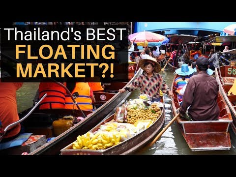 Thailand's Supreme FLOATING MARKET with Be aware Wiens!