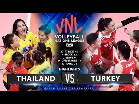 Thailand vs Turkey | Highlights | Females's VNL 2019