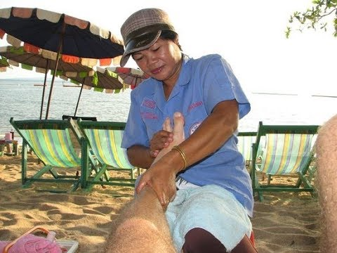 Foot Therapeutic massage At Pattaya Seashore, Pattaya, Thailand