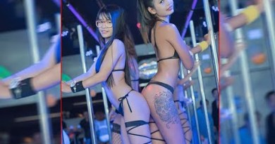 Pattaya Walking Avenue Nightlife Freelancer, Ladyboys And Girls