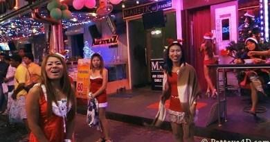 Pattaya Walking Side twin carriageway Nightlife GoGo Girs & Freelancer on Christmas Part1 HAPPY NEW YEAR 2014