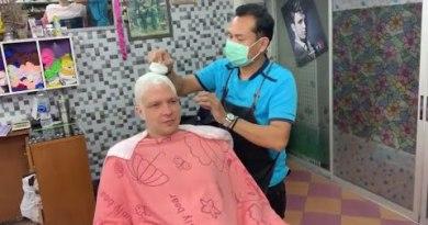 I shaved my hair off at Pattaya barber shop $5