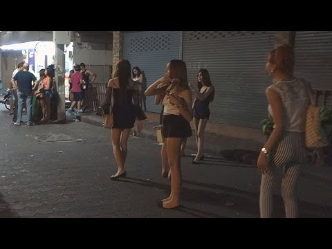 Pattaya Walking Avenue 29.3.2014 SPECIAL. Portion 2 Nightlife Bars closed many Freelancer