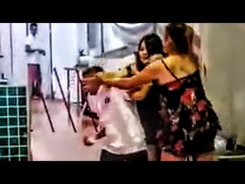 TOMBOY fights LADYBOY WALKING STREET PATTAYA THAILAND spanking spank stripper stalking pussy cat pet
