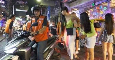 High Season Gradual Night in Pattaya Walking Freeway