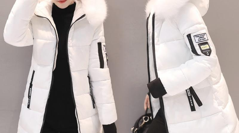 2019 New Parka Womens Winter Coats Womans Long Cotton Casual Fur Hooded Jackets Warm Parkas Female Overcoat Coat Free shipping