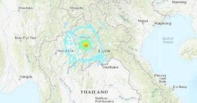 Thailand Earthquake of magnitude 6.1 strikes northern Thailand, Laos