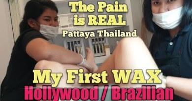 $30 FULL HOLLYWOOD WAXING by Two THAI GIRLS in PATTAYA THAILAND #waxmyballs