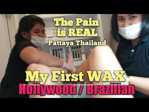 $30 FULL HOLLYWOOD WAXING by Two THAI GIRLS in PATTAYA THAILAND #waxmyballs