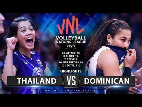 Thailand vs Dominican | Highlights | Girls's VNL 2019