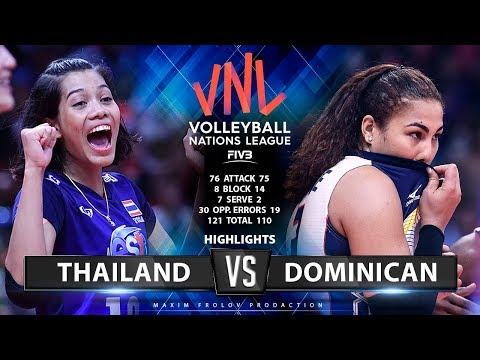 Thailand vs Dominican | Highlights | Girls's VNL 2019