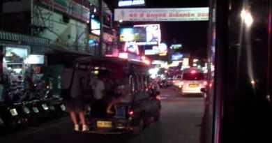 Pattaya Seaside Avenue At Night Fragment 1 Of two