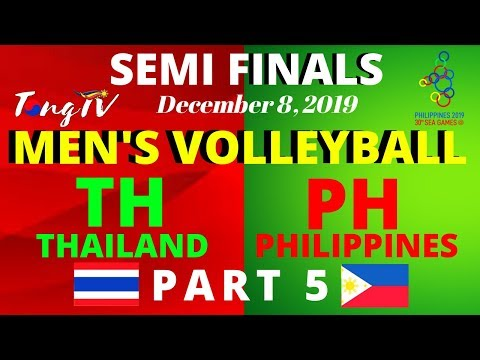 SEA GAMES MEN'S VOLLEYBALL: THAILAND VS PHILIPPINES (PART 5)