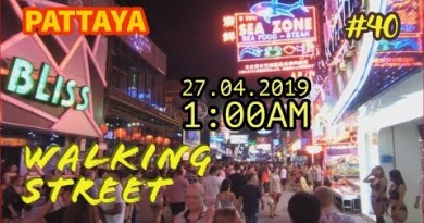 Pattaya Strolling Aspect freeway After Heart of the night 27.4.2019 Thailand