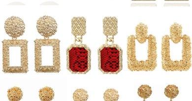 2019 Vintage Earrings Large for Women Statement Earrings Geometric Gold Metal Pendant Earrings Trend Fashion Jewelry