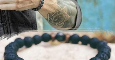 Buddha Bracelet Diffuser Jewelry Gift Moonstone-Bead Lava-Stone Chakra Tibetan Natural