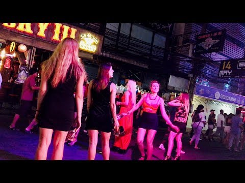 Walking Boulevard, Pattaya Night Lifestyles – Thailand 4K HD