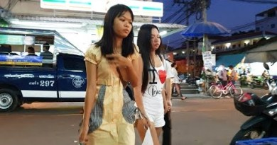 Combine of Crimson Streets – Pattaya Metropolis Thailand – Night time and Night time