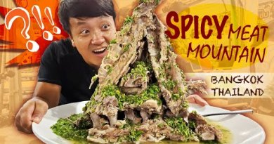 SPICY MEAT MOUNTAIN, Legendary Noodles & Thai Facet twin carriageway Meals in Bangkok Thailand Practice Market