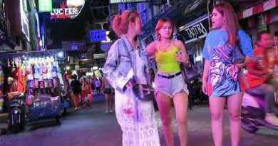 Pattaya Thailand at Center of the evening in Walking Avenue