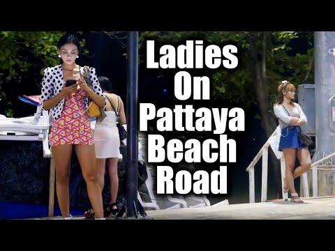 Females On Pattaya Seaside Facet road / Pattaya / Tailand / 2019 #19
