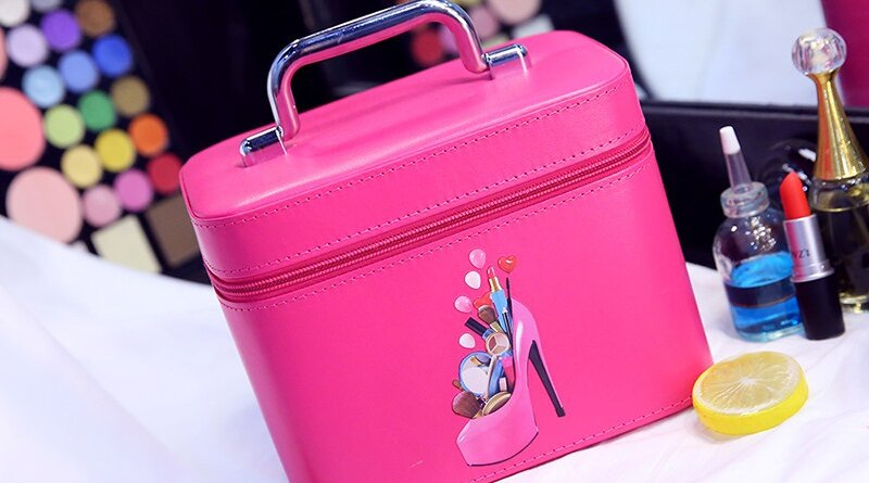Cosmetic bag large capacity portable travel, large-sized skin care products, portable cosmetic box, multi-layer cosmetic box