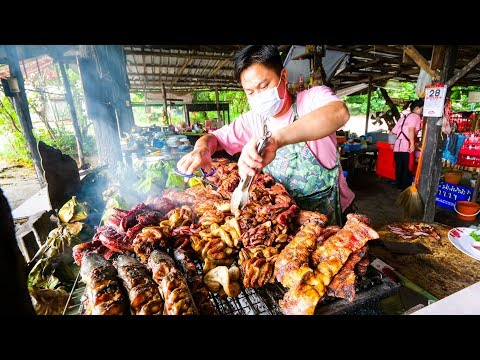 Thai Facet motorway Food – EXTREME BBQ MEAT TOUR in Chiang Mai, Northern Thailand | Thai Sausage and Laap!
