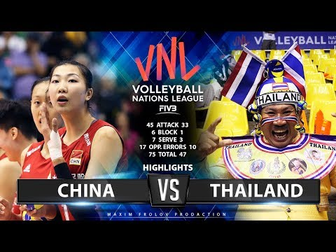 China v Thailand | Highlights | Ladies's VNL 2019