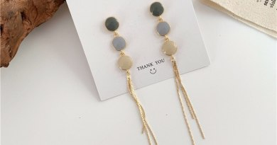 Enamel 3 color round earrings for women pendientes brincos femme, long tassel chain dangle earings fashion gold color jewelry