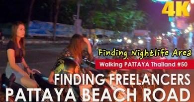 Discovering Freelancers Pattaya Sea jog Road at Night Plump Ver- Walking Pattaya #50
