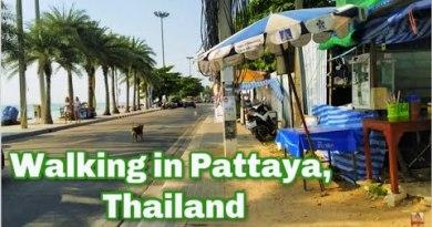 Pattaya Seaside, Thailand strolling highway