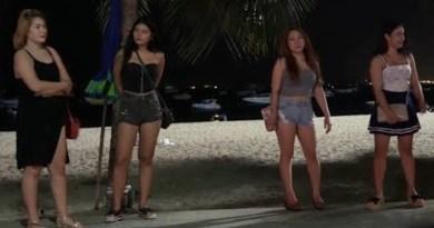Seaside Raod Night Stroll- Pattaya Thailand