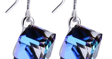 Embellished with Crystal from Swarovski 925 Silver Drop Earring Square Cube Dangle Earring Fine Jewelry Gift Lady Brincos