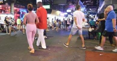 After Nighttime Scene in Walking Road Pattaya 2020 Feb