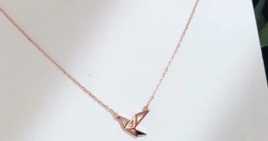 ANENJERY Minimalist 925 Sterling Silver Paper Crane Necklaces For Women Rose Gold Silver choker collares Wish Necklace S-N459
