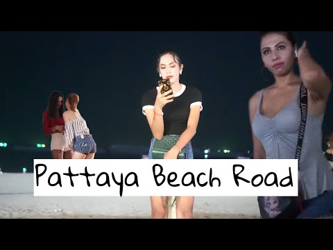Pattaya Seaside Boulevard Nightlife – Ladies Ready For Customers