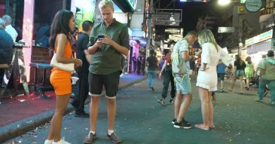 Midnight Scene in Strolling Road Pattaya 2020