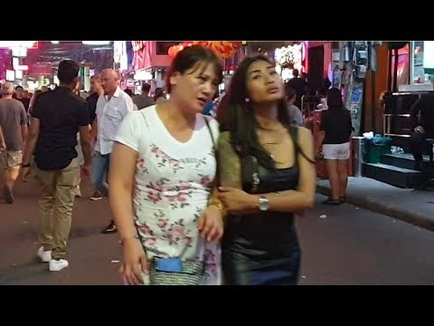 PATTAYA strolling aspect road nightlife 2020