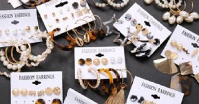 17KM Vintage Tassel Acrylic Earrings For Women Bohemian Earrings Set Big Dangle Drop Earring 2019 Brincos Female Fashion Jewelry