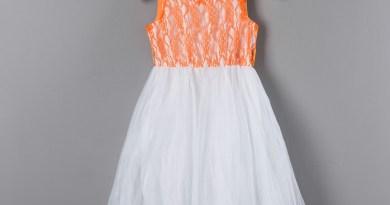 New Casual Children's Clothes Toddler Summer Dresses Baby Girl ClothesTulle Kids Orange Dress
