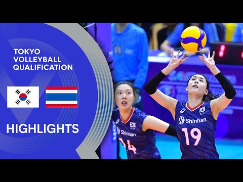 Korea vs. Thailand – Highlights | AVC Females's Tokyo Volleyball Qualification 2020
