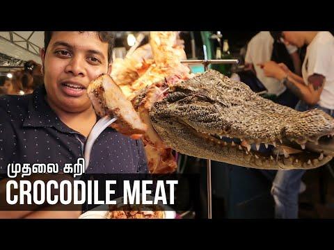 Ingesting Crocodile in Thailand